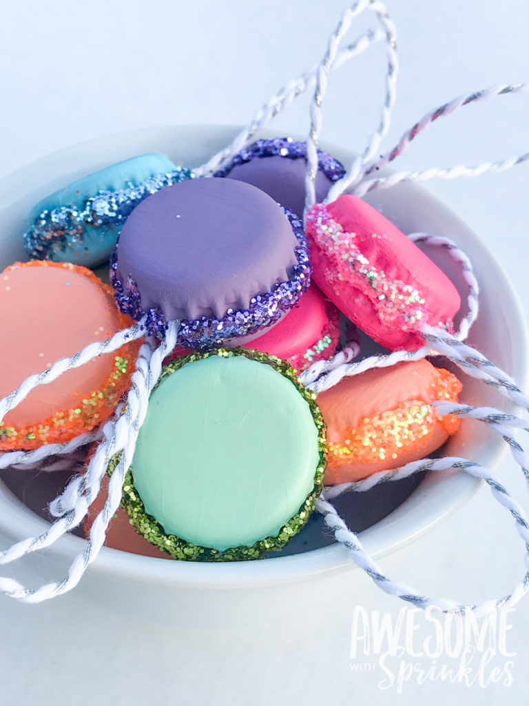 DIY Macaroon Ornaments | Awesome with Sprinkles