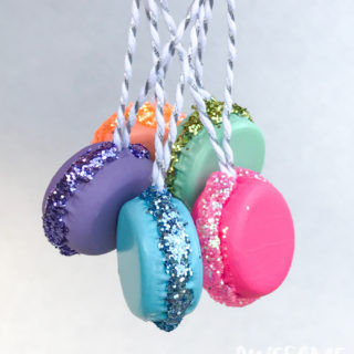 DIY French Macaron Ornaments and Present Toppers