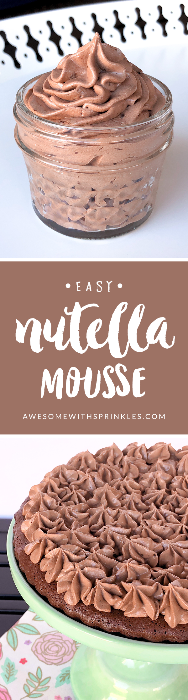 Easy Nutella Mousse | Awesome with Sprinkles