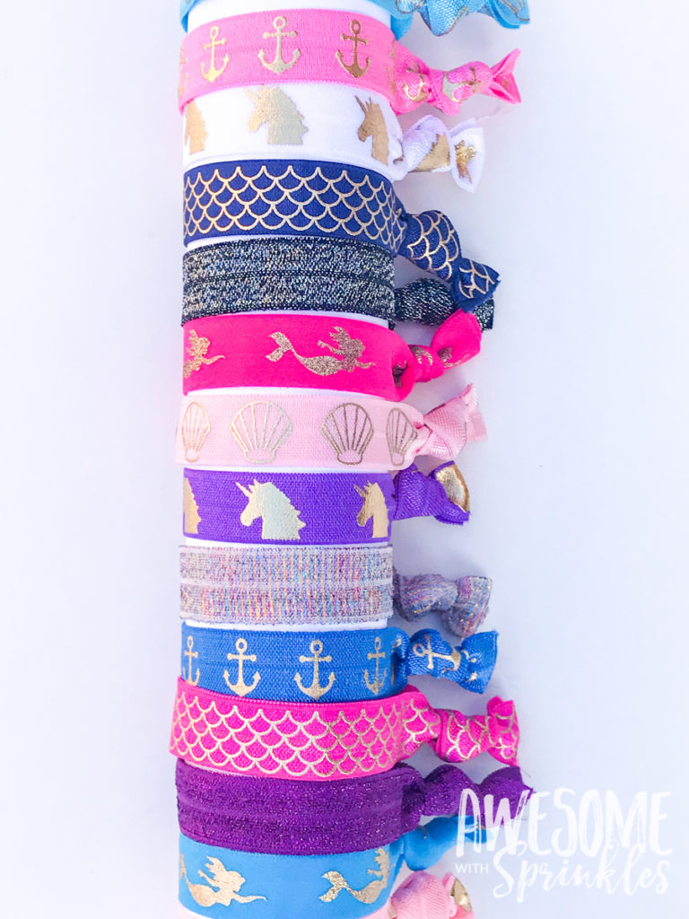 DIY Easy No-Crease Hair Ties with Foldover Elastic | Awesome with Sprinkles