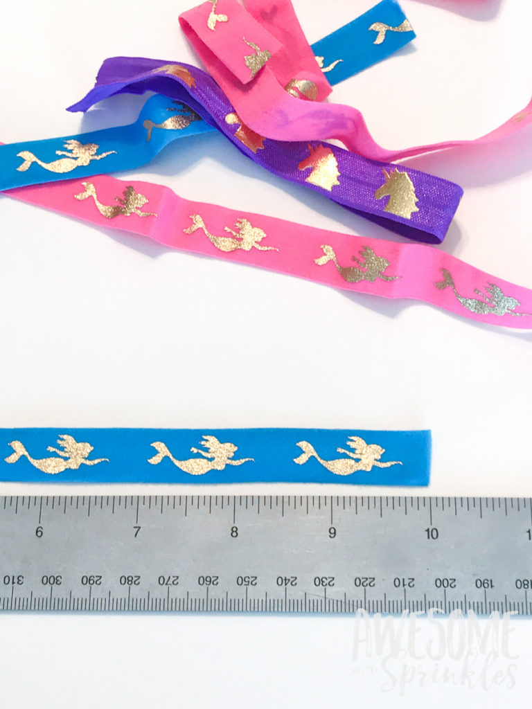 DIY Easy No-Crease Hair Ties with Foldover Elastic   Awesome with Sprinkles