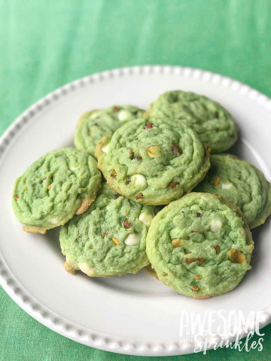 White Chocolate Pistachio Cookies - Awesome with Sprinkles