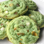 White Chocolate Pistachio Cookies | Awesome with Sprinkles