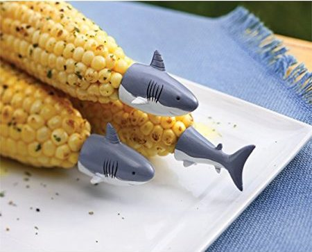 Shark Kitchen Gadgets Roundup for Shark Week | Shark Corn cob holders