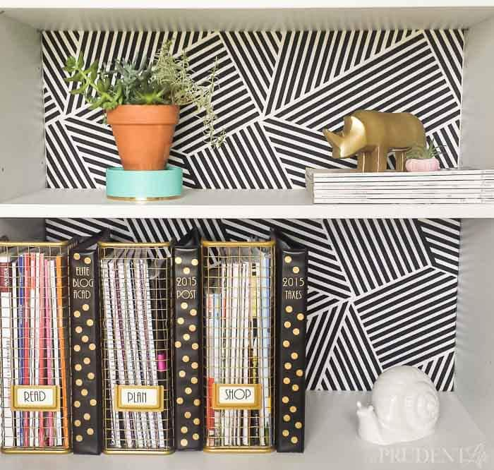 Easy DIY Decor Ideas - Patterned Bookcase Background