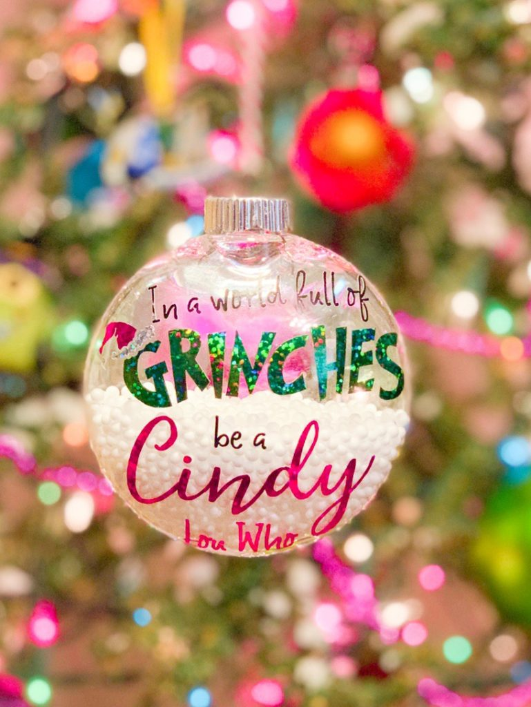 Ten Christmas Ornaments Dyi By Cindy Lou Who In 2020 Merry Grinchsmas (free SVG cutfile)   Awesome with Sprinkles